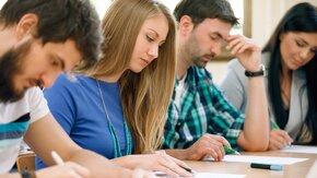 étudiants en cours