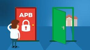 Porte APB verrouillée, autre porte ouverte