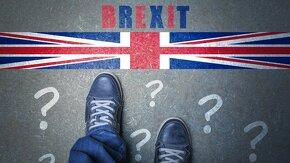 Pieds au bord frontière Brexit