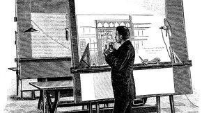 dessin d'un homme qui dessine