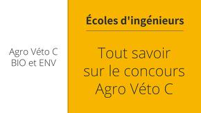 Tout savoir sur le concours Agro Veto C