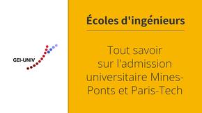 Tout savoir sur l'admission universitaire Mines-Ponts et Paris-Tech