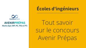 Concours Avenir Prépas
