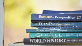 Pile de livres en anglais