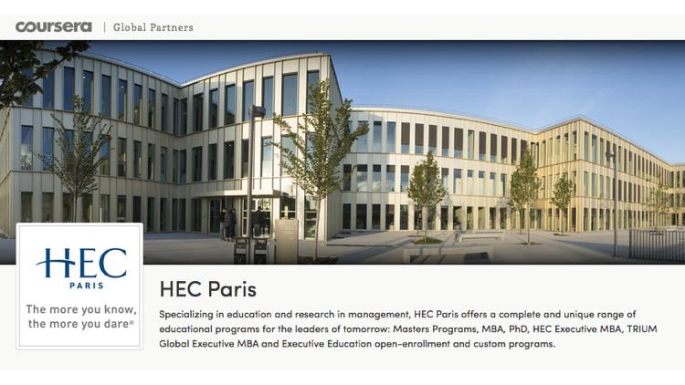 lancement du premier Mooc d'HEC avec Coursera