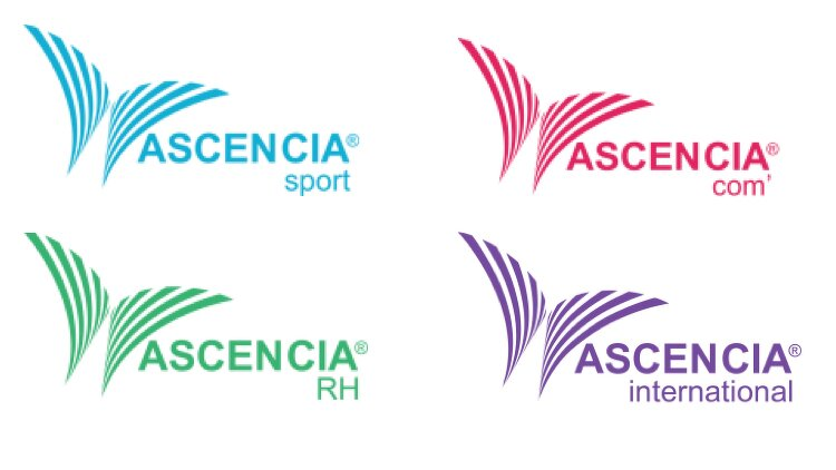 quatre logos des nouvelles branches d'Ascencia